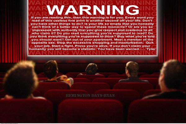Warning copy