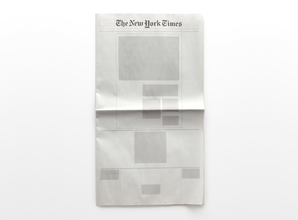 NOTHING IN THE NEW YORK TIMES: Newspapers from around the world with nothing in them.